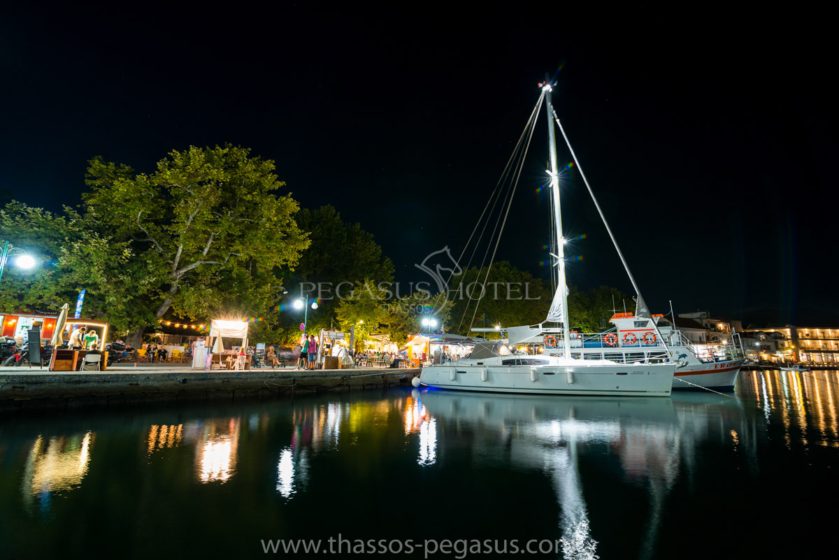 Thassos Town by Night