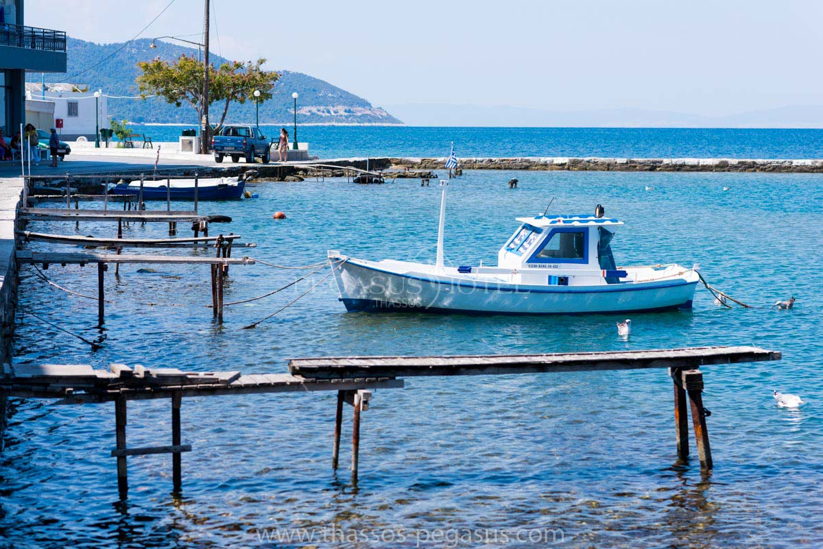 Thassos Town old Harbor